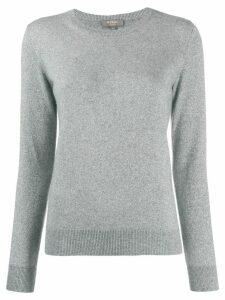 N.Peal round neck glitter jumper - Grey