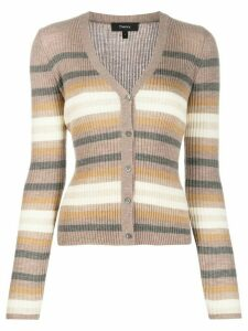 Theory striped knit cardigan - Brown