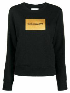 Calvin Klein Jeans logo print sweatshirt - Black