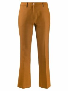Pt01 flared cropped trousers - Brown