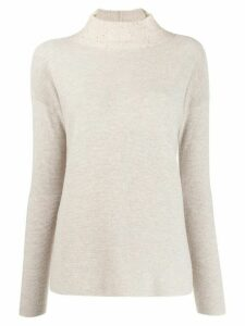 Fabiana Filippi sequin-embroidered jumper - NEUTRALS