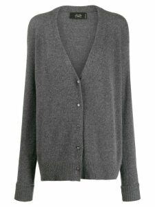 Maison Flaneur long cashmere cardigan - Grey