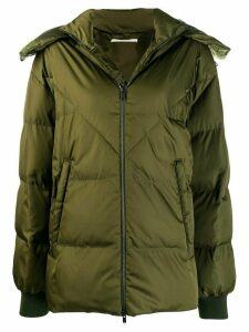 Stella McCartney branded puffer jacket - Green