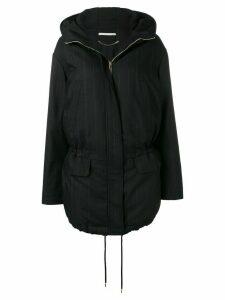 Stella McCartney striped parka coat - Black