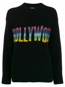 Laneus rainbow Hollywood embroidered jumper - Black