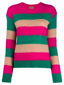 ALESSIA SANTI striped crewneck sweater - PINK