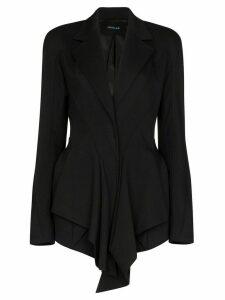 Mugler draped fitted blazer - Black