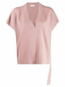 Fabiana Filippi v-neck knitted top - PINK
