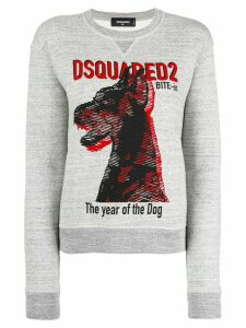 Dsquared2 The Year of the Dog print sweatshirt - Grey