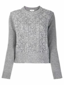 Ballantyne metallic-trim chunky knit sweater - Grey