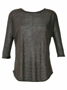 Egrey ribbed knit blouse