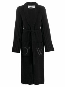 Off-White oversized knitted cardigan - Black