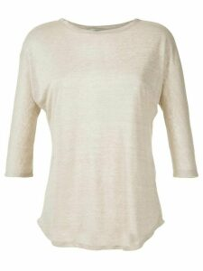 Egrey ribbed knit blouse - NEUTRALS