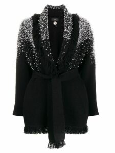 Alanui crystal embellished cardigan - Black