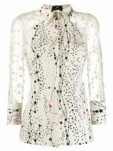 Elisabetta Franchi star appliqué shirt - NEUTRALS