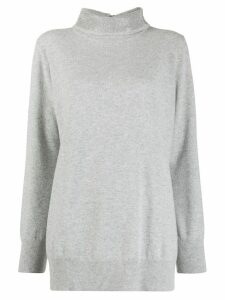 Fabiana Filippi stud-embellished funnel-neck jumper - Grey