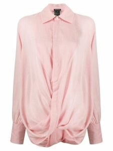 Ann Demeulemeester twist drape shirt - PINK