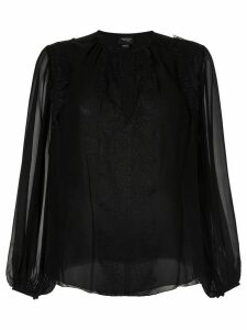 Giambattista Valli lace detail blouse - Black