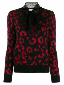 Red Valentino RED(V) Leo Rock jacquard jumper - Black