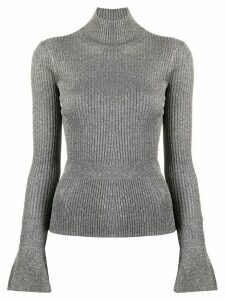 Veronica Beard shimmer ribbed knit jumper - Grey