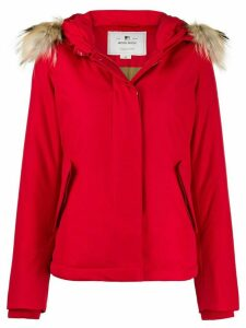 Woolrich faux fur trimmed hooded jacket - Red