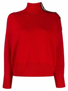 Sandro Paris stripe detail jumper - Red