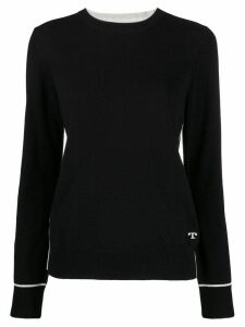 Tory Burch cashmere fitted jumper - Black