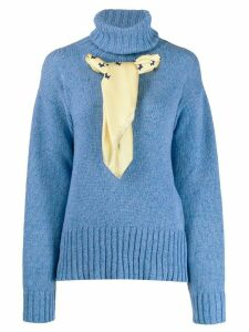 Jejia scarf-detail knit sweater - Blue