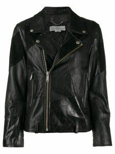 Golden Goose patchwork biker jacket - Black