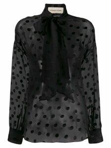 Alexandre Vauthier polka-dot blouse - Black