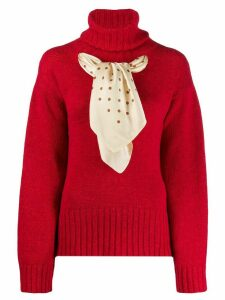 Jejia scarf-detail knit sweater - Red
