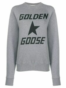 Golden Goose logo printed sweatshirt - Grey