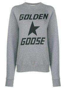 Golden Goose logo printed sweatshirt - Grey