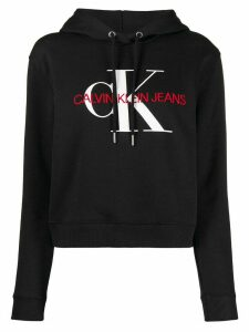 Calvin Klein Jeans embroidered logo hoodie - Black