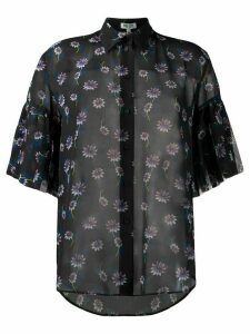 Kenzo Passion Flower sheer shirt - Black
