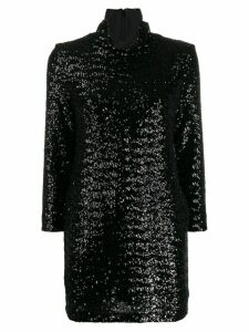 Fabiana Filippi roll-neck sequined mini dress - Black