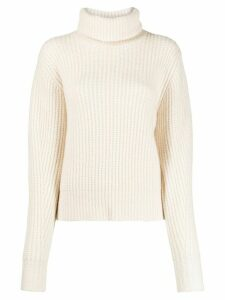Essentiel Antwerp roll-neck waffle knit jumper - White