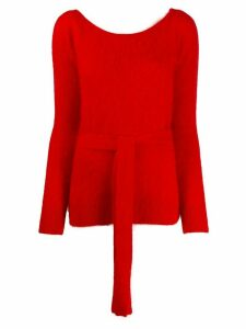 Semicouture waist-tied jumper - Red