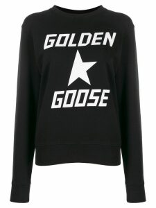 Golden Goose logo printed sweatshirt - Black