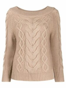 Semicouture cable-knit sweater - Brown