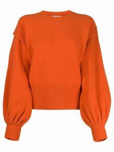JW Anderson layered sleeves jumper - ORANGE