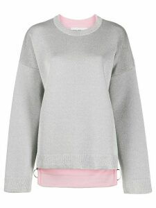 Paco Rabanne side-zip knit sweater - SILVER