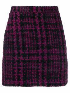 Andamane Bertha tweed mini skirt - PURPLE