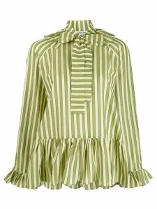 Sofie Sol Studio striped ruffled blouse - Green
