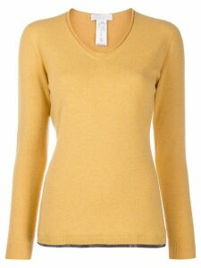 Fabiana Filippi v-neck knit sweater - Yellow