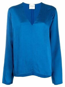 Forte Forte V-neck blouse - Blue