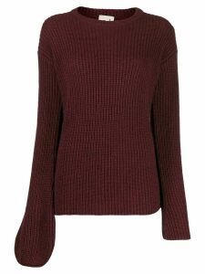 L'Autre Chose asymmetric sleeves jumper - Red
