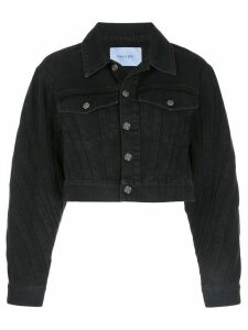 Mugler cropped denim jacket - Black
