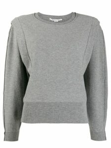 Stella McCartney crew-neck panelled jumper - Grey