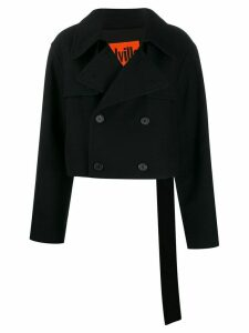 colville cropped trench coat - Black